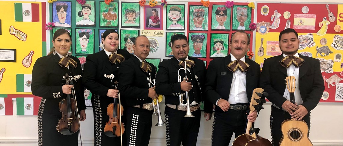 Mustangs listened to Mariachi to celebrate Hispanic Heritage Month!
