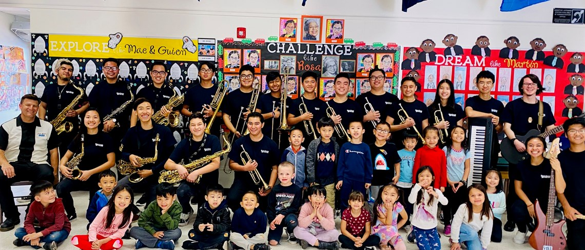 The Bolsa Grande Jazz Ensemble and our Kindergarteners!